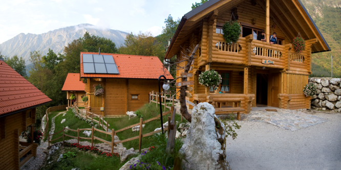 3 - Wooden chalets by the Soča river, Kobarid