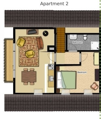 floorplan apartment for 2 bled