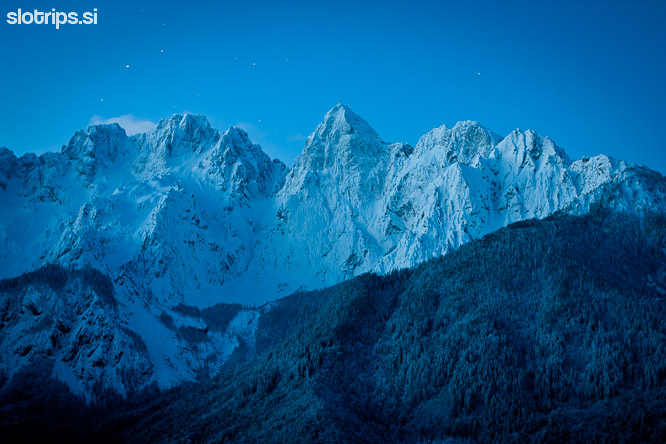 slovenian alps winter