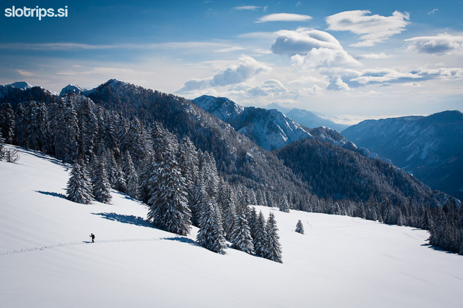julian alps winter vosca