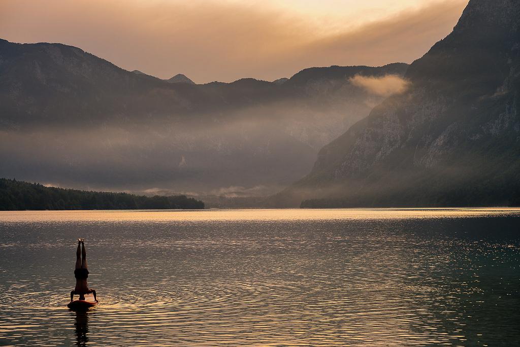 slovenian lake bohinj