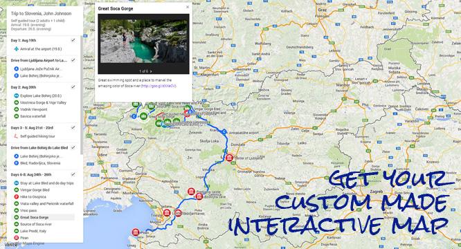 slovenia self guided tour map