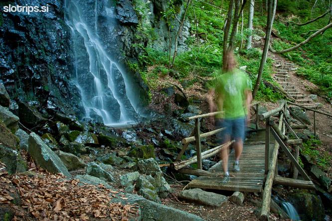 slovenia pohorje waterfall skalca
