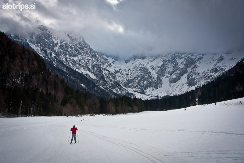 winter alps jezersko slovenia cross country skiing