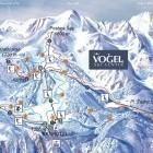 1-Zemljevid smučišča (vir: www.vogel.si)