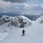 23-Smučanje iz Zadnjega Vogla proti planini Laz