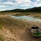 12-Boat at Lake Cerknica in summer time