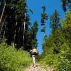 1-Start of the path above Golnik village