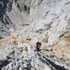 34-Rjavina - Steep descent towards Staničeva hut