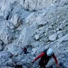 8-Mala Mojstrovka - Začetek plezalne zavarovane poti