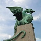 8-Dragon bridge in Ljubljana