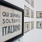 "12-In the museum: ""Only Italian is spoken here"". Idrija was under Italy between both world wars."