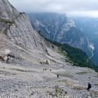 """26-Descent from Špik to """"Kačji graben"""""""