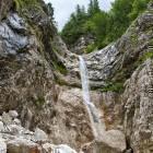 "29-Špik - Waterfall at the end of ""Kačji graben"""
