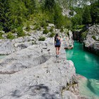 8-Admire the color of Soca and jump into its cold pools