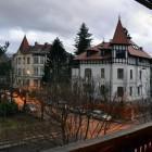 1-Vila Veselova Ljubljana, razgled z balkona