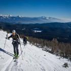 1-Veliki Draški vrh: Vzpon proti Srenjskemu prevalu