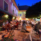 38-Summer atmosphere on the outside terrace, Muzikafe Ptuj