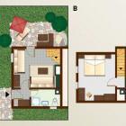 17-Pristava Lepena, Apartma B (6 enot, 37m2, 2+2 ležišč)