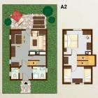 16-Pristava Lepena, Apartma A2 (1 enota, 57m2, 4+2 ležišč)