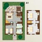 15-Pristava Lepena, Apartma A1 (1 enota, 75m2, 6+2 ležišč)