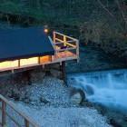 27-Glamping Garden Village Bled, šotor na pomolu, foto: Jošt Gantar