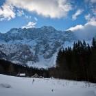 3-Goli vrh, Jezersko. Tu zavijemo levo v gozd