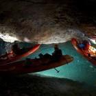 9-S kajakom po podzemlju Pece, Mežica